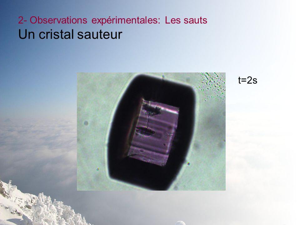 2- Observations expérimentales: Les sauts Un cristal sauteur