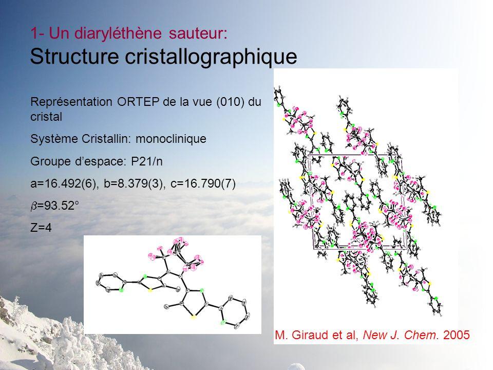 1- Un diaryléthène sauteur: Structure cristallographique