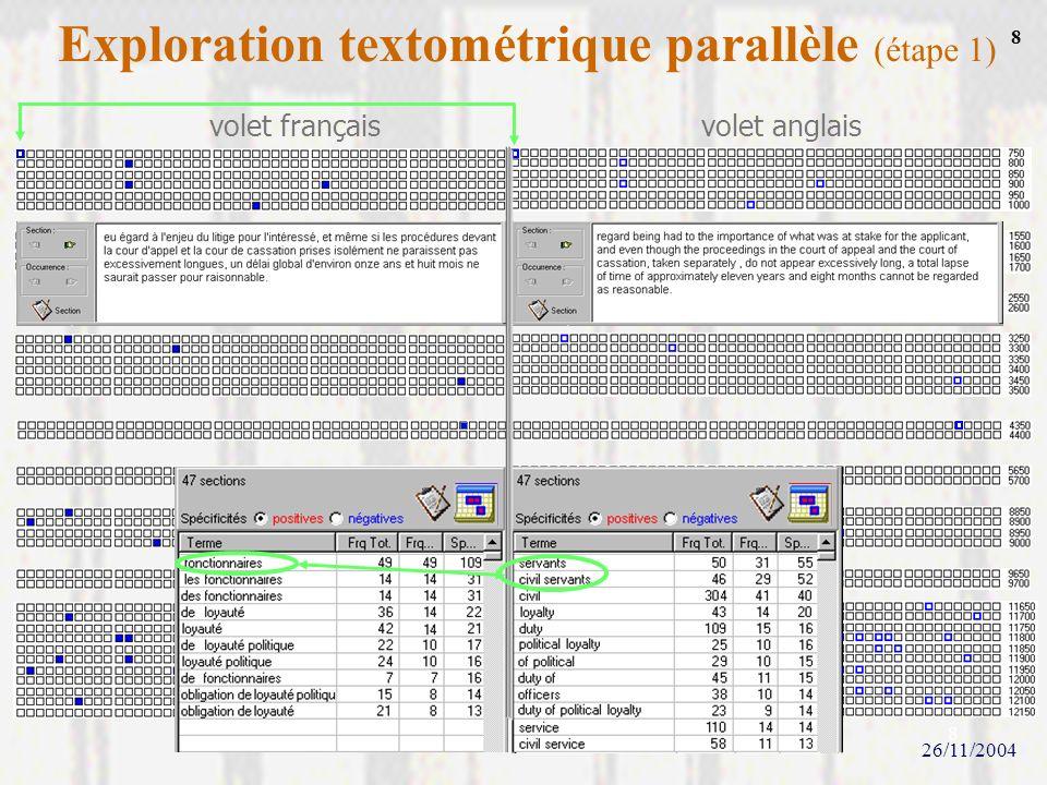 Exploration textométrique parallèle (étape 1)
