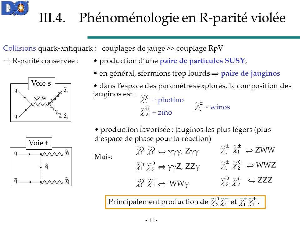 III.4. Phénoménologie en R-parité violée