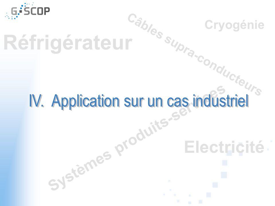 IV. Application sur un cas industriel