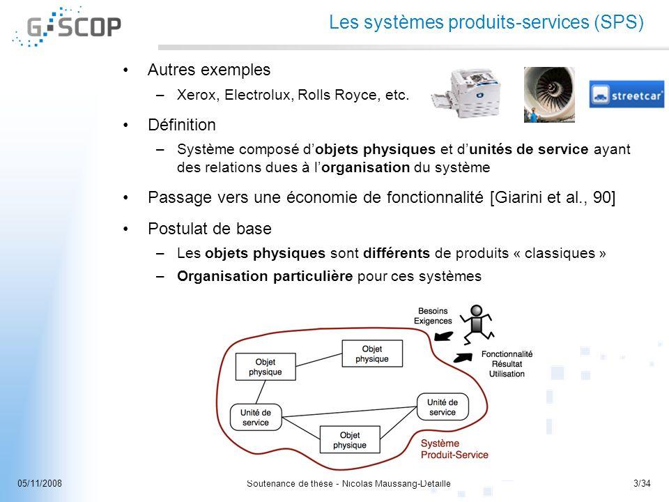 Les systèmes produits-services (SPS)