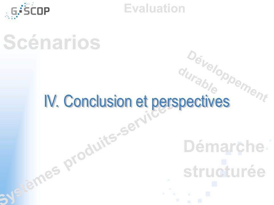IV. Conclusion et perspectives
