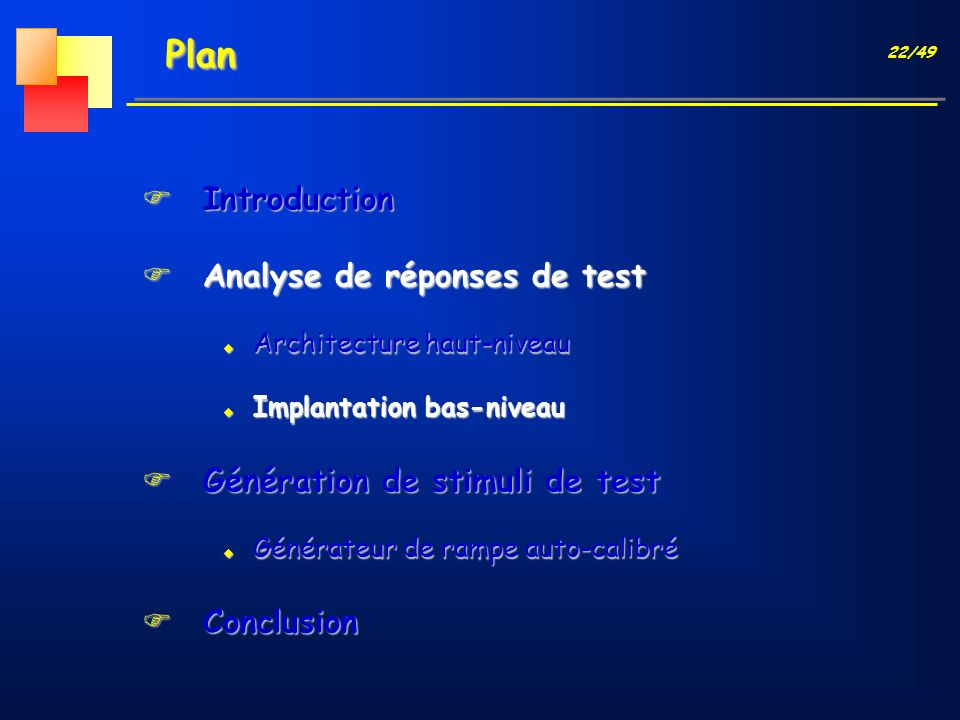 Plan Introduction Analyse de réponses de test