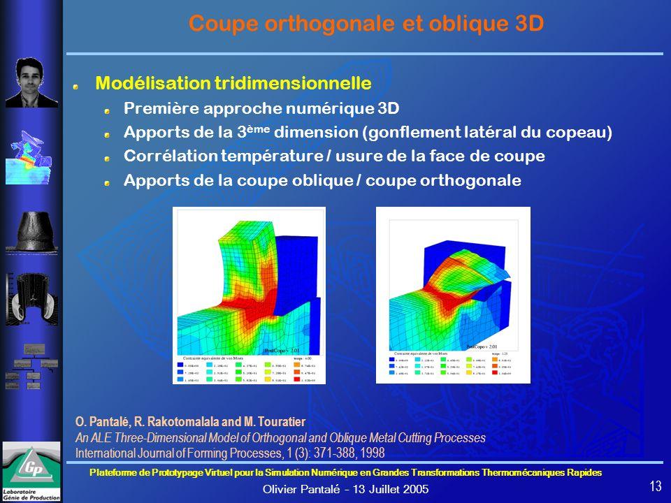 Coupe orthogonale et oblique 3D