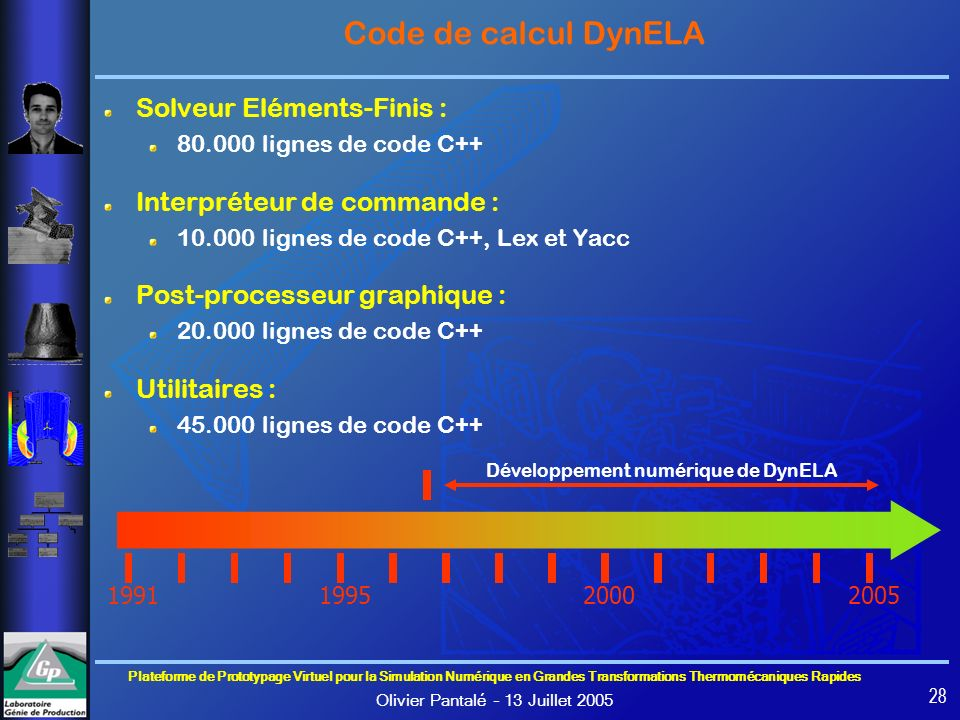 Développement numérique de DynELA