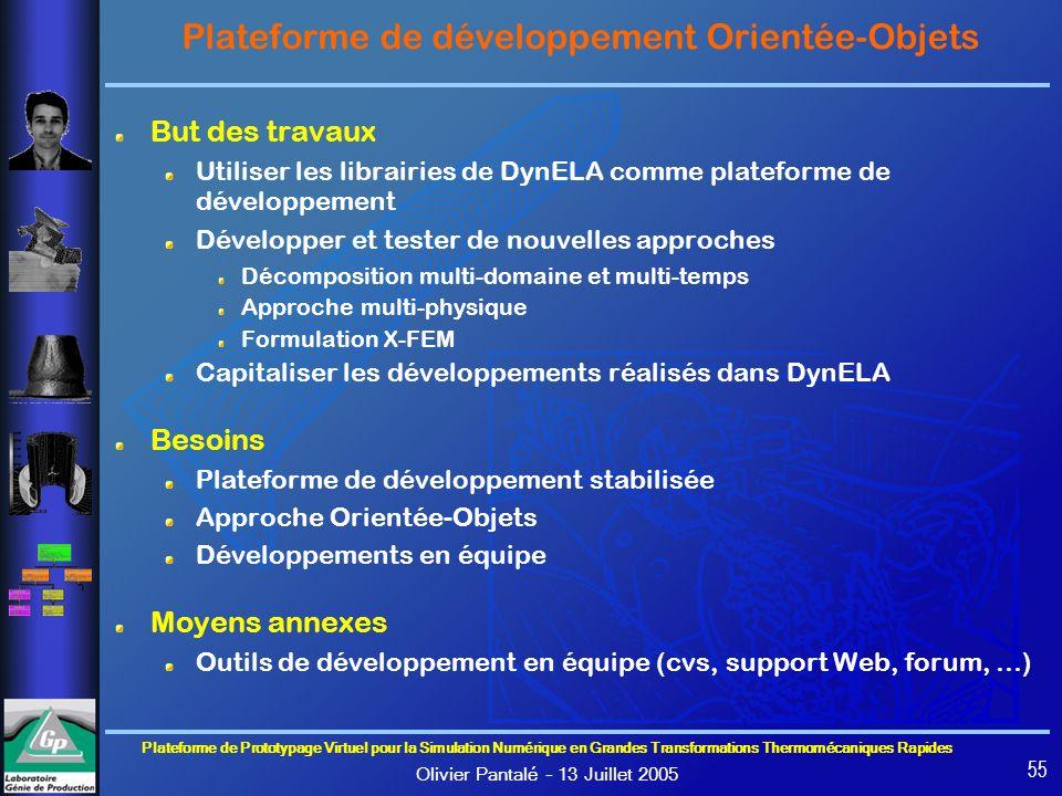Plateforme de développement Orientée-Objets