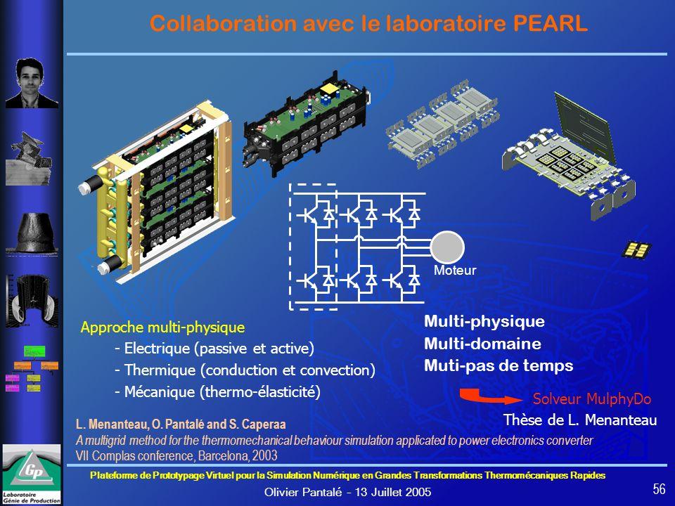 Collaboration avec le laboratoire PEARL