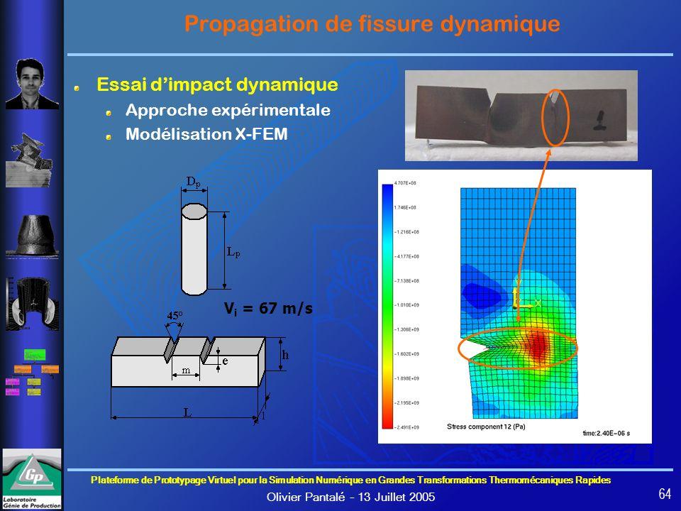 Propagation de fissure dynamique