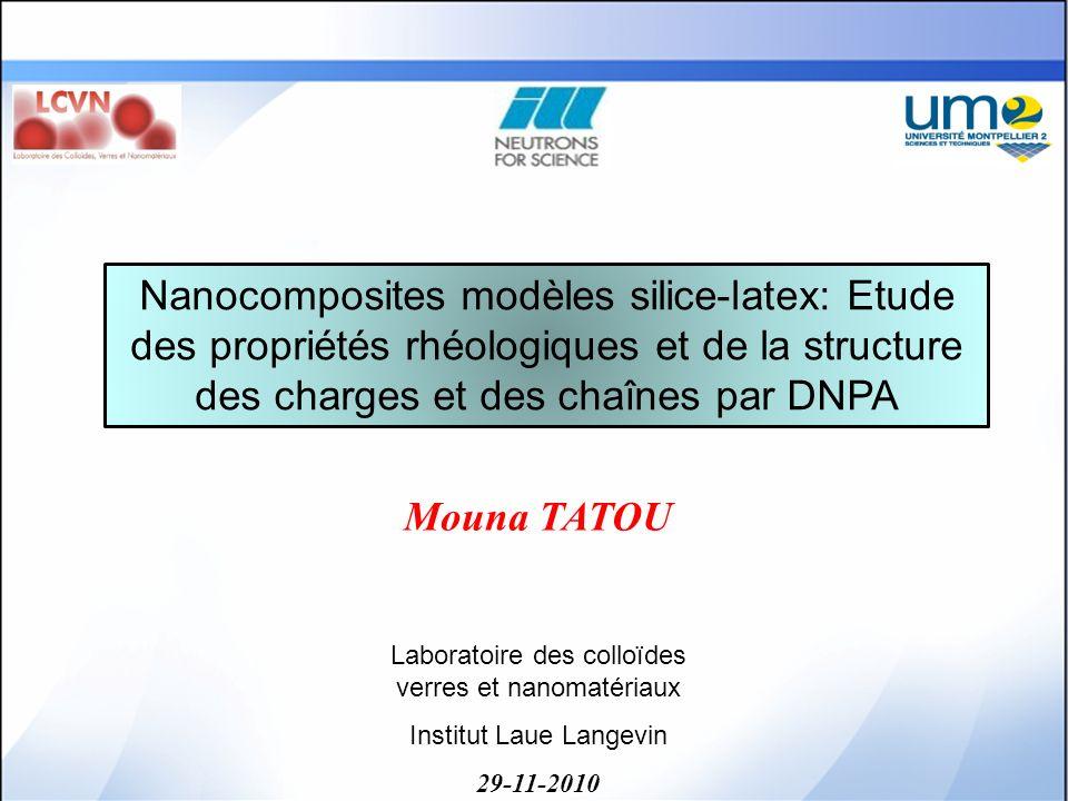 Nanocomposites modèles silice-latex: Etude des propriétés rhéologiques et de la structure des charges et des chaînes par DNPA