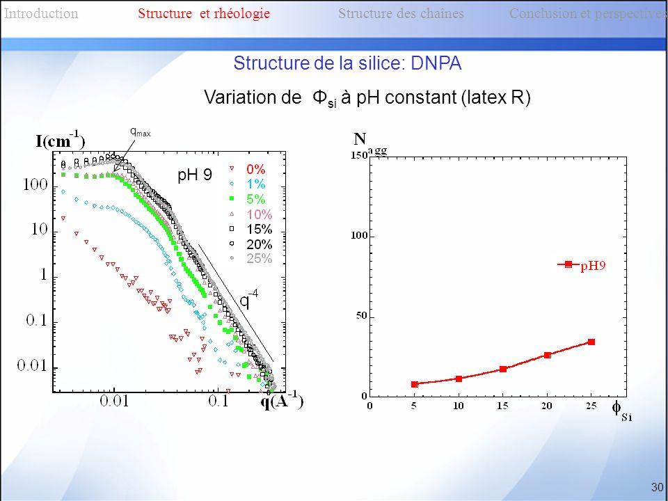 Structure de la silice: DNPA
