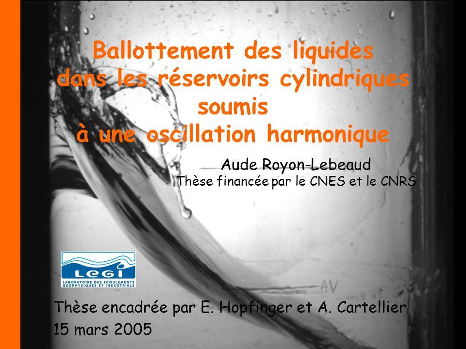 Aude Royon-Lebeaud Thèse financée par le CNES et le CNRS