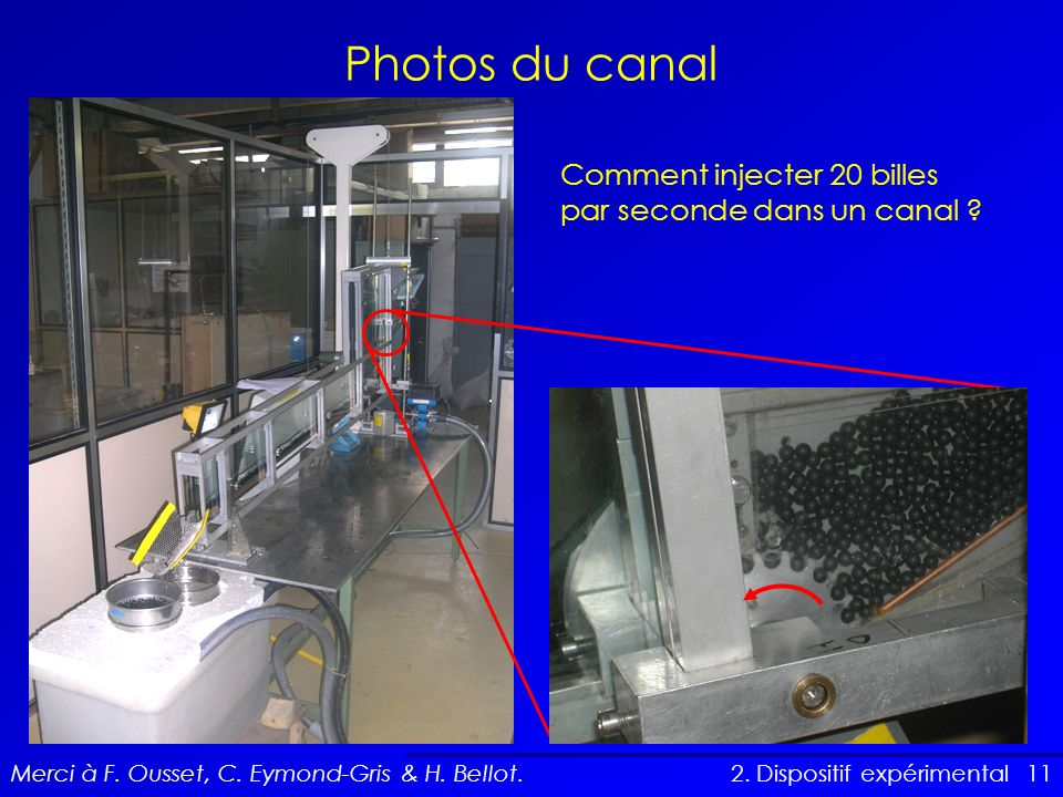 Photos du canal Comment injecter 20 billes par seconde dans un canal