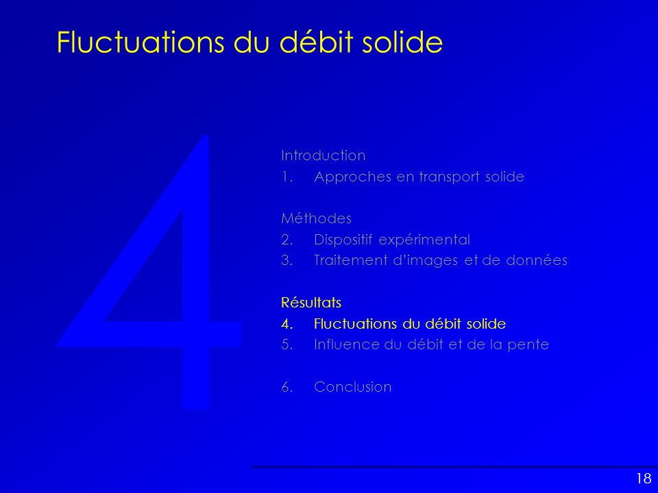 Fluctuations du débit solide