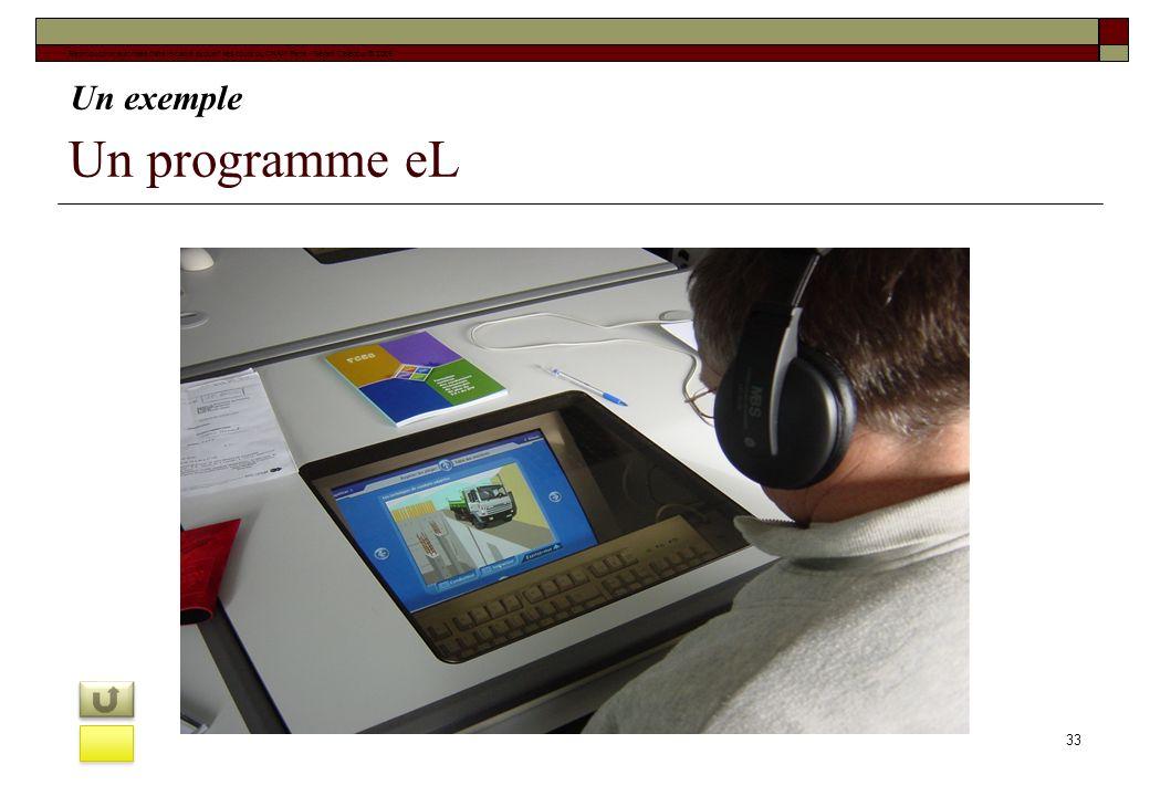 Un programme eL Un exemple