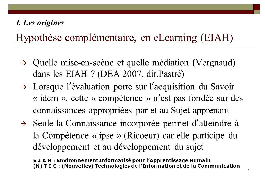 Hypothèse complémentaire, en eLearning (EIAH)