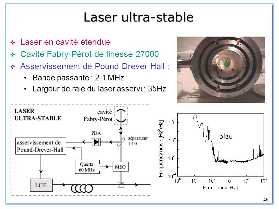 Laser ultra-stable Laser en cavité étendue