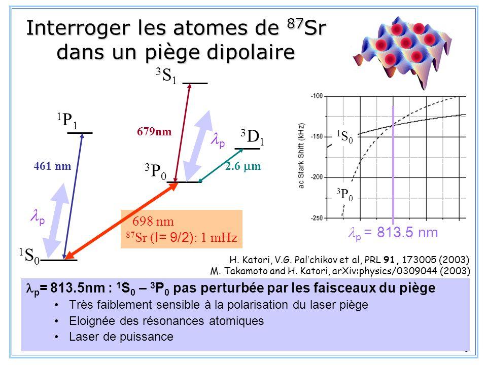 Interroger les atomes de 87Sr dans un piège dipolaire