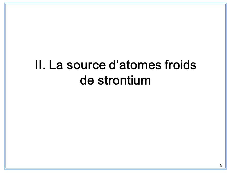 II. La source d'atomes froids de strontium