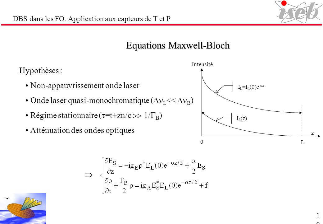 Equations Maxwell-Bloch