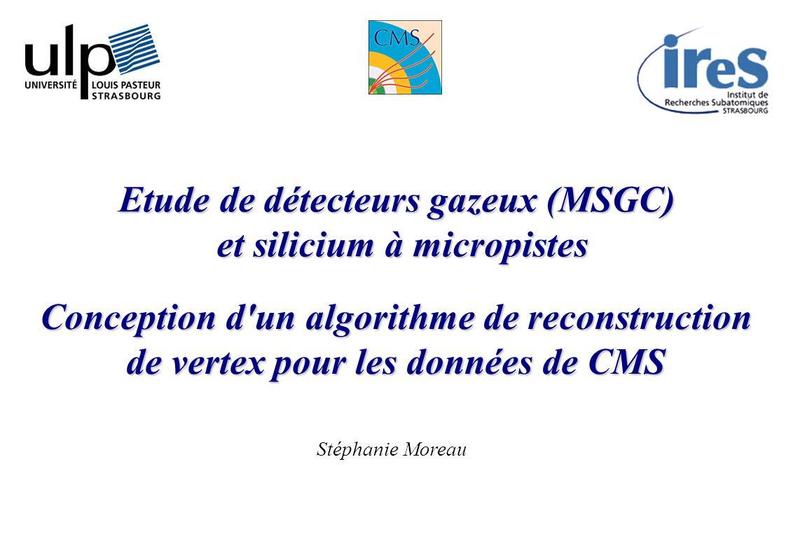 Etude de détecteurs gazeux (MSGC) et silicium à micropistes