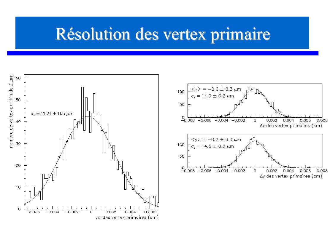 Résolution des vertex primaire