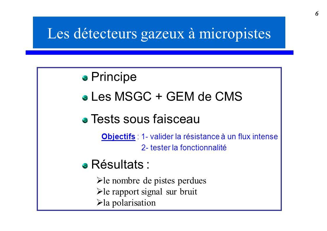 Les détecteurs gazeux à micropistes