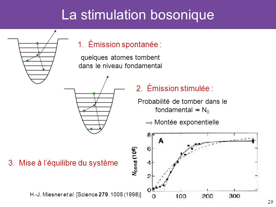 La stimulation bosonique
