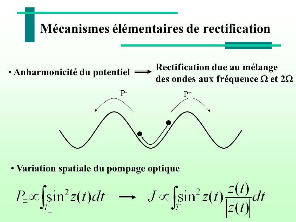 Mécanismes élémentaires de rectification