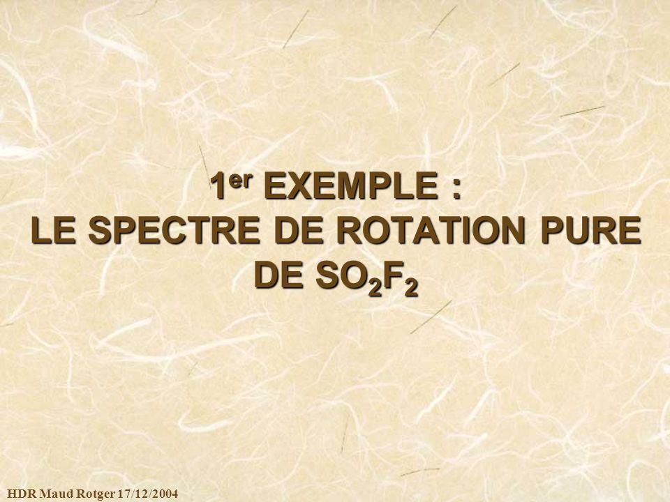 1er EXEMPLE : LE SPECTRE DE ROTATION PURE DE SO2F2
