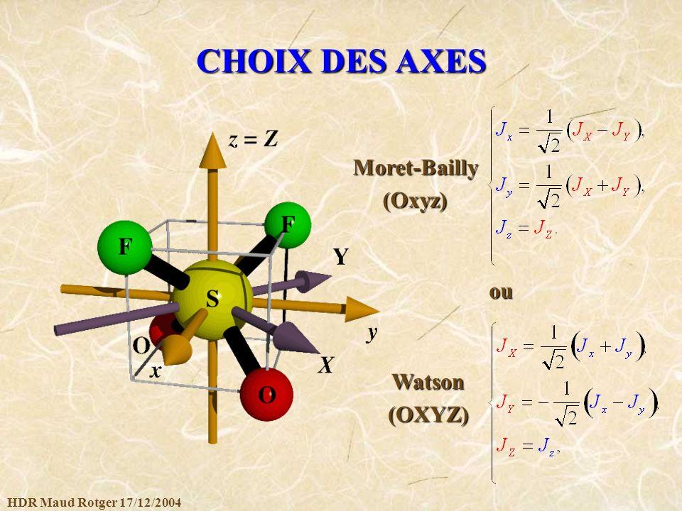 CHOIX DES AXES Moret-Bailly (Oxyz) ou Watson (OXYZ)