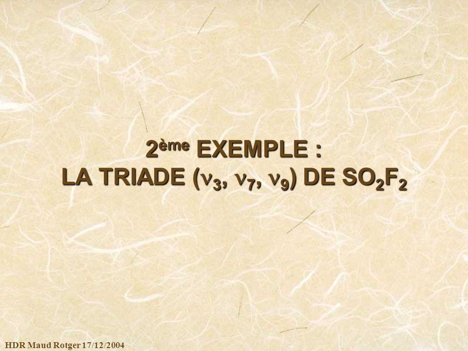 2ème EXEMPLE : LA TRIADE (3, 7, 9) DE SO2F2