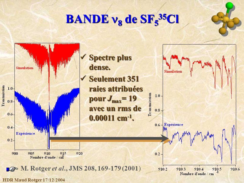 BANDE n8 de SF535Cl Spectre plus dense.