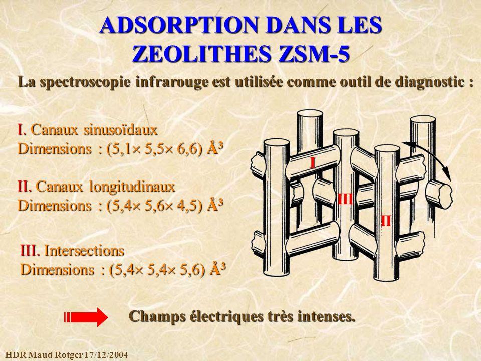 ADSORPTION DANS LES ZEOLITHES ZSM-5