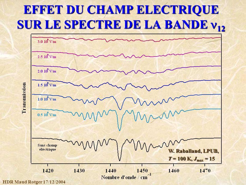 EFFET DU CHAMP ELECTRIQUE SUR LE SPECTRE DE LA BANDE n12