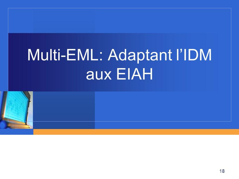 Multi-EML: Adaptant l'IDM aux EIAH