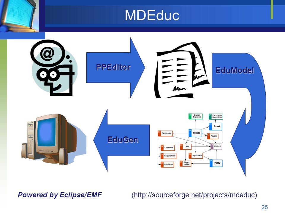 MDEduc PPEditor EduModel EduGen