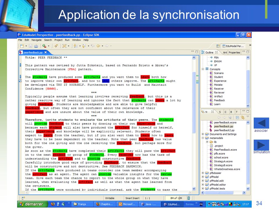 Application de la synchronisation