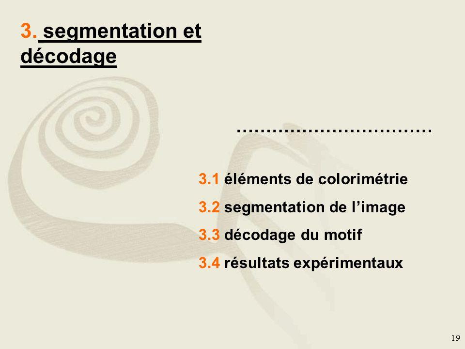 3. segmentation et décodage