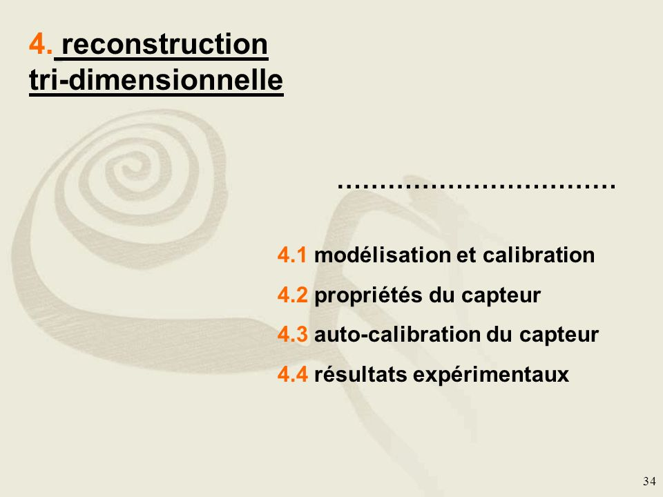 4. reconstruction tri-dimensionnelle