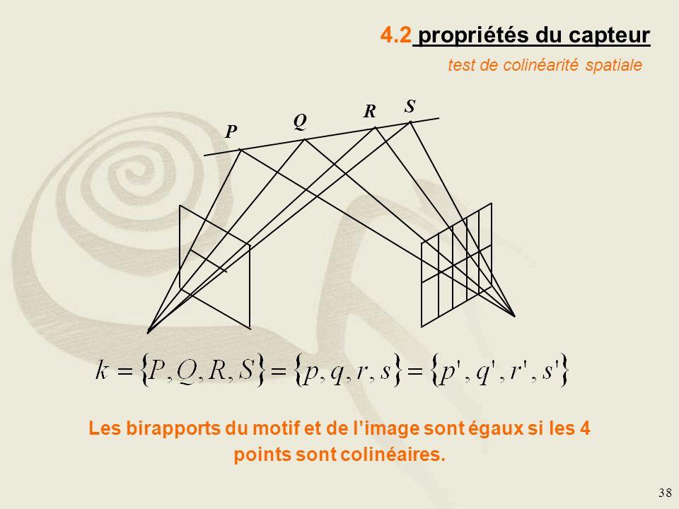4.2 propriétés du capteur S R Q P