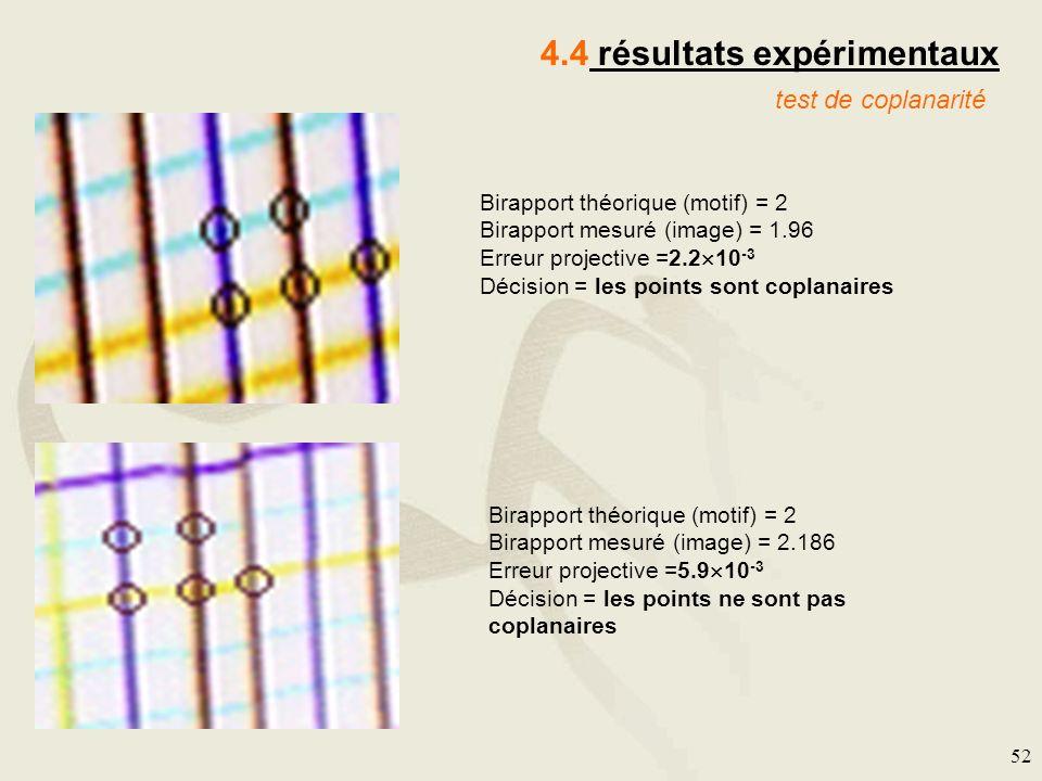 4.4 résultats expérimentaux
