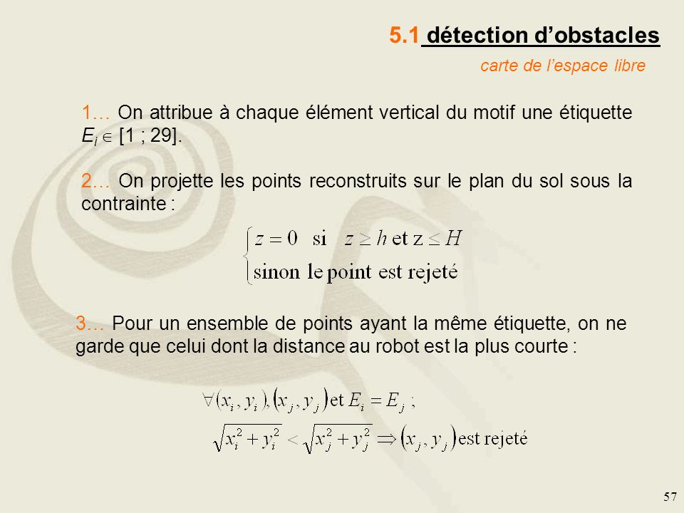 5.1 détection d'obstacles