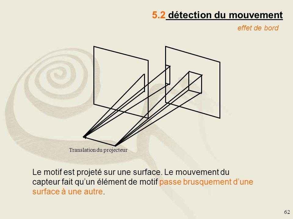 5.2 détection du mouvement