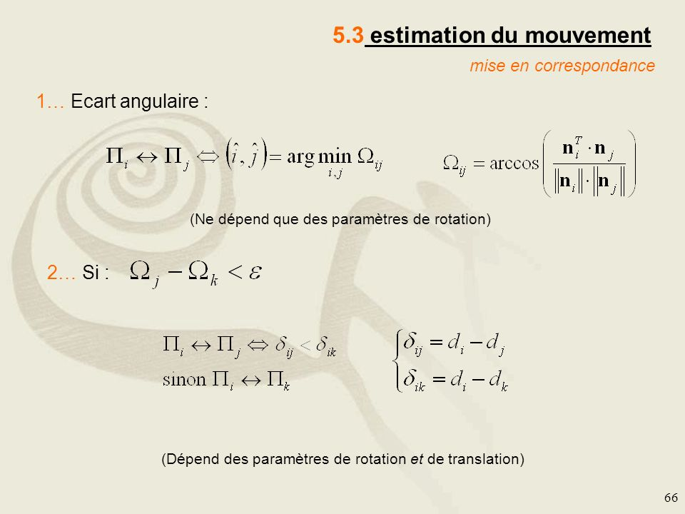 5.3 estimation du mouvement