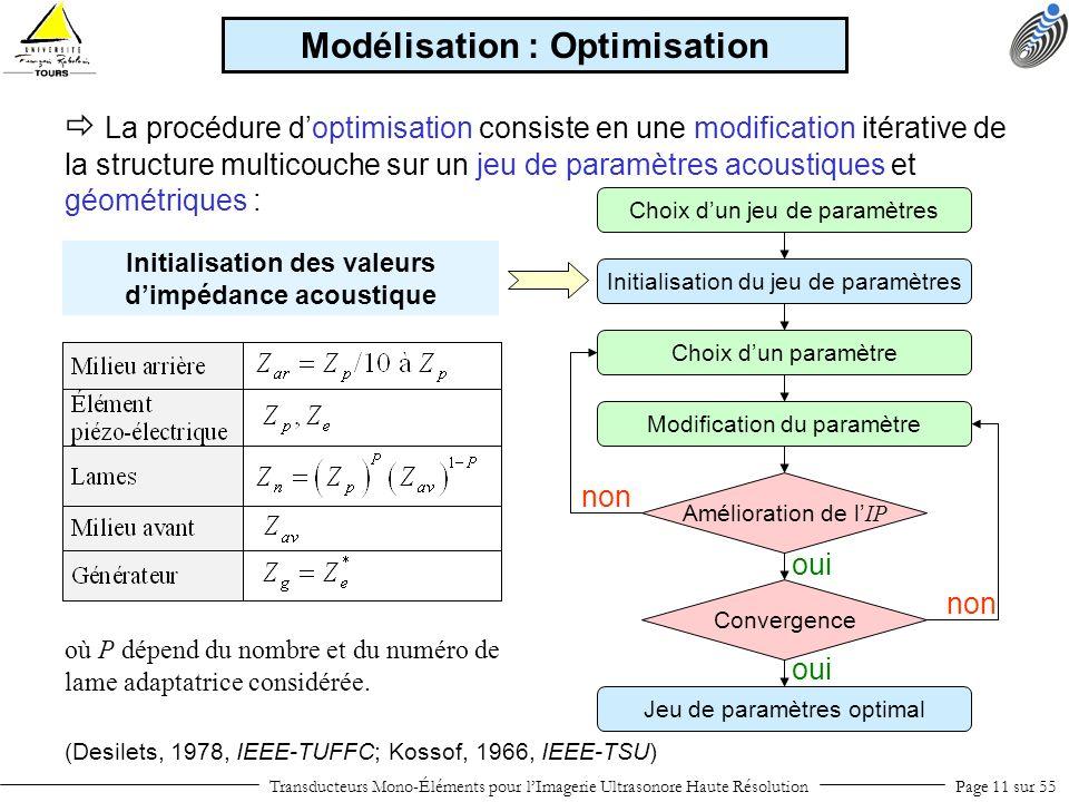 Modélisation : Optimisation