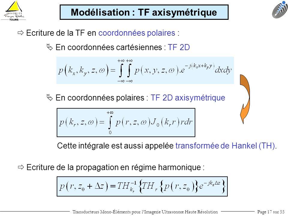 Modélisation : TF axisymétrique