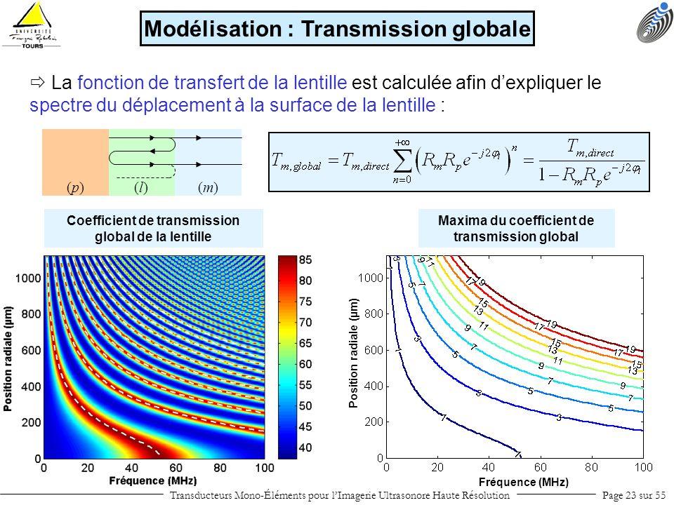 Modélisation : Transmission globale