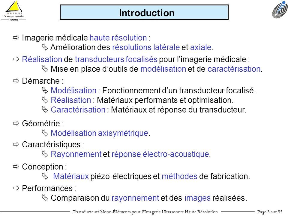 Introduction  Imagerie médicale haute résolution :