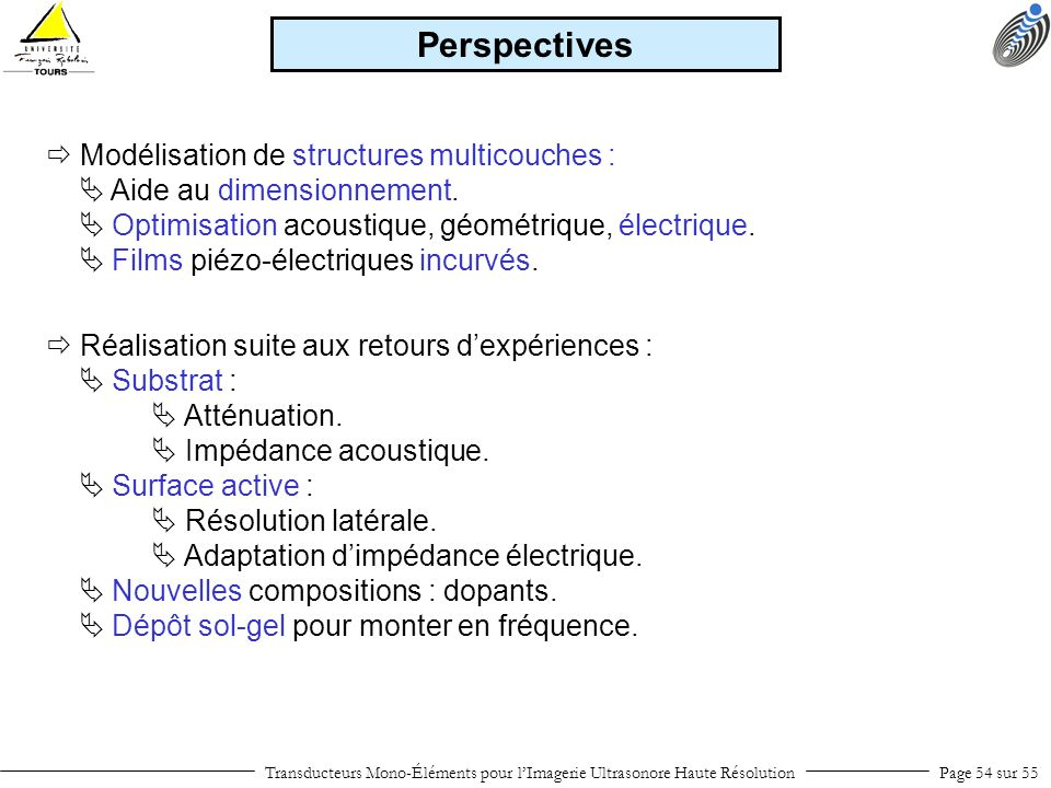 Perspectives  Modélisation de structures multicouches :